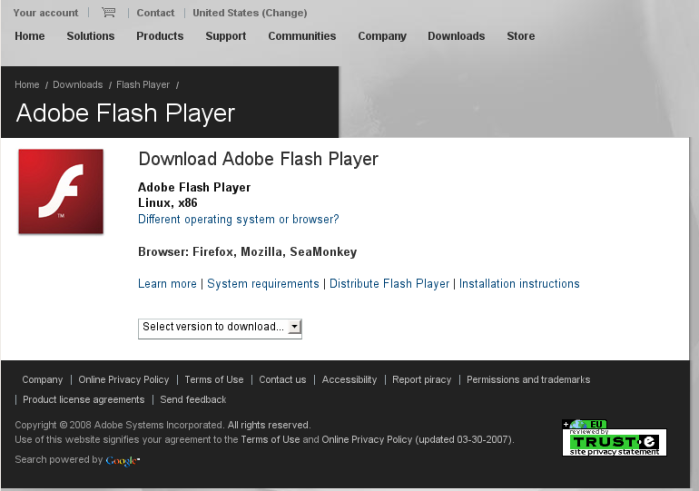 Flash Download Page